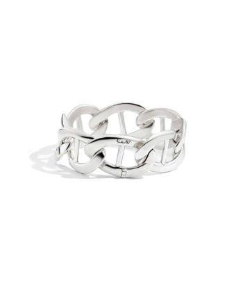 Pomellato bracciale argento maglia marina