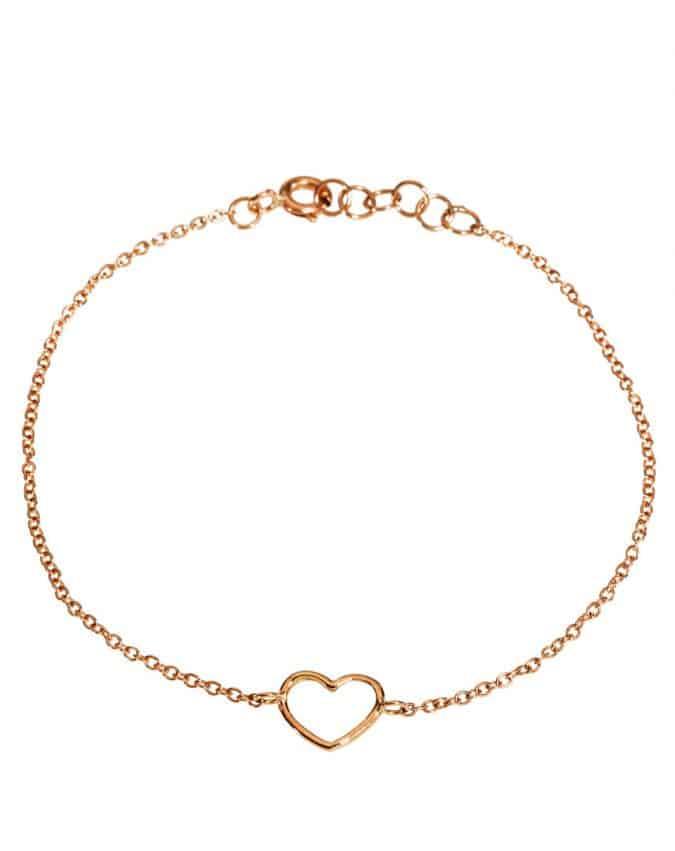 Gerbella bracciale cuore vuoto oro rosa